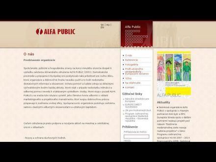 www.alfapublic.sk