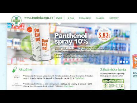 www.toplekaren.sk