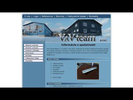 www.vavteam.sk