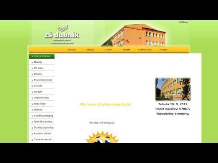 www.zsdubnik.edupage.sk