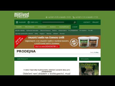 www.myslivost.cz/prodejna
