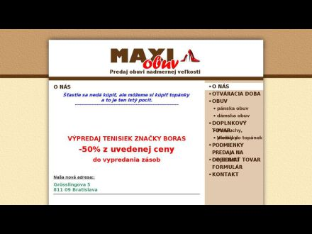 www.maxiobuv.sk
