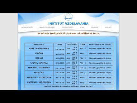 www.institutvzdelavania.ozm.sk