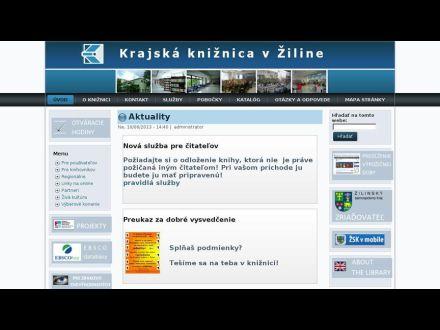 www.krajskakniznicazilina.sk
