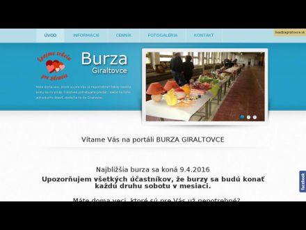 www.burzagiraltovce.sk