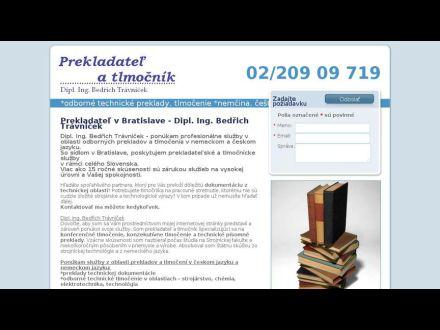 www.prekladatelbedrichtravnicek.sk