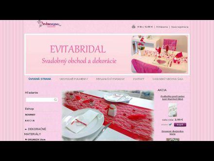 www.evitabridal.sk