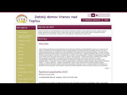 www.detskydomovvranov.sk