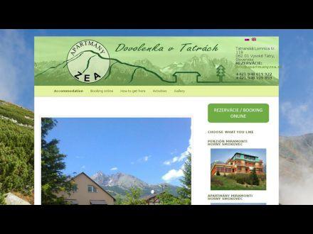 www.apartmanyzea.sk