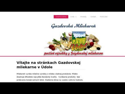 www.gazdovskamliekaren.sk