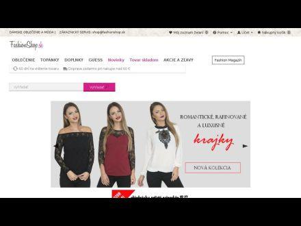 www.fashionshop.sk