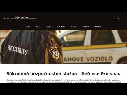 www.defensepro.sk