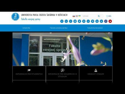 www.upjs.sk/fakulta-verejnej-spravy/studium