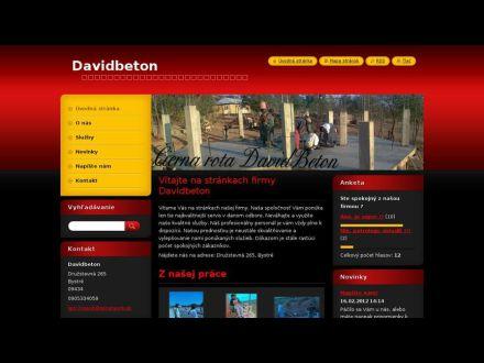 www.davidbeton.webnode.sk