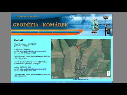 www.geodezia-komarek.sk