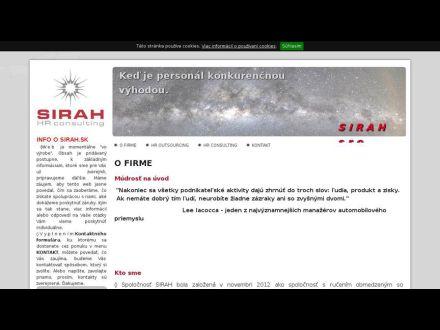 www.sirah.sk