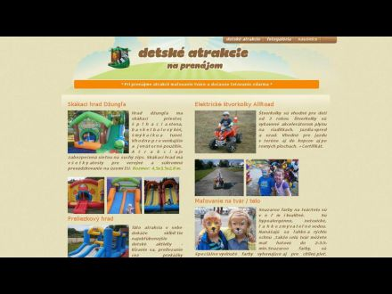 www.detskeatrakcie-zilina.sk