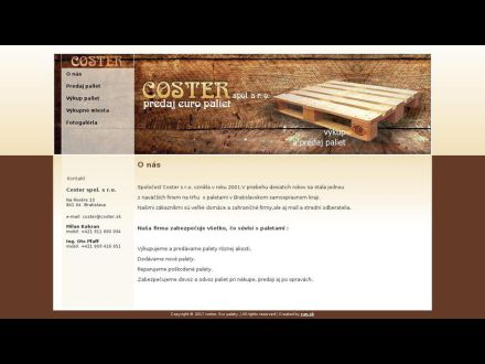 www.coster.sk