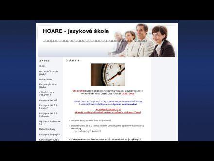 www.hoare-jazykovaskola.sk