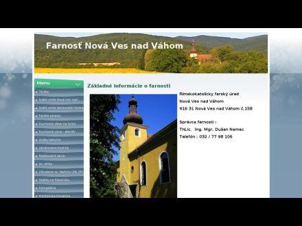 www.farnostnovavesnadvahom.sk