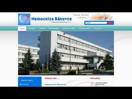www.nemocnicabanovce.sk