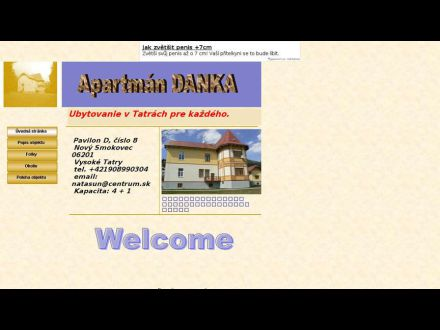 www.apartmandanka.wz.cz