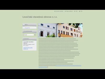 www.levocskastavebnaobnova.webnode.sk