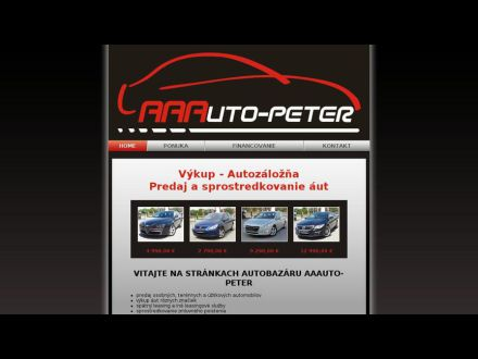 www.aaauto-peter.sk