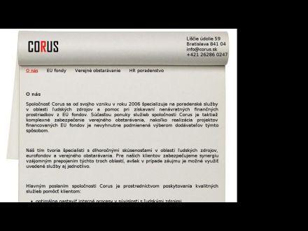 www.corus.sk