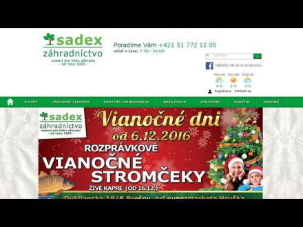 www.zahradnictvosadex.sk