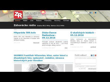 www.zahorackeradio.sk