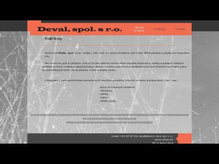 www.deval.sk