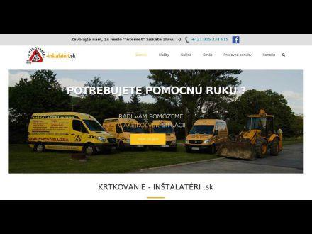 www.krtkovanie-instalateri.sk